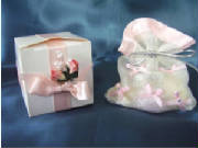 favour bags. pink box