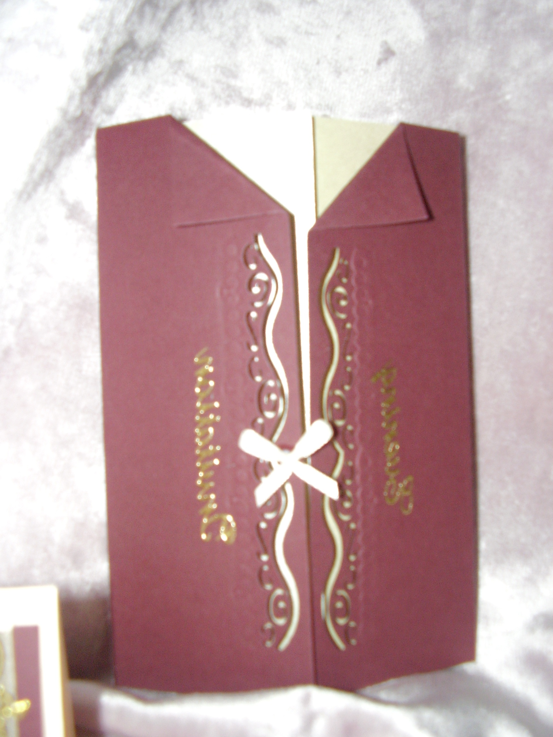 red invites,menus,order of service